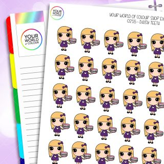 Teeth Daisy Character Planner Stickers
