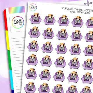 Reading Daisy Character Planner Stickers