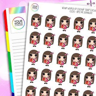 McDonald's Iris Character Planner Stickers