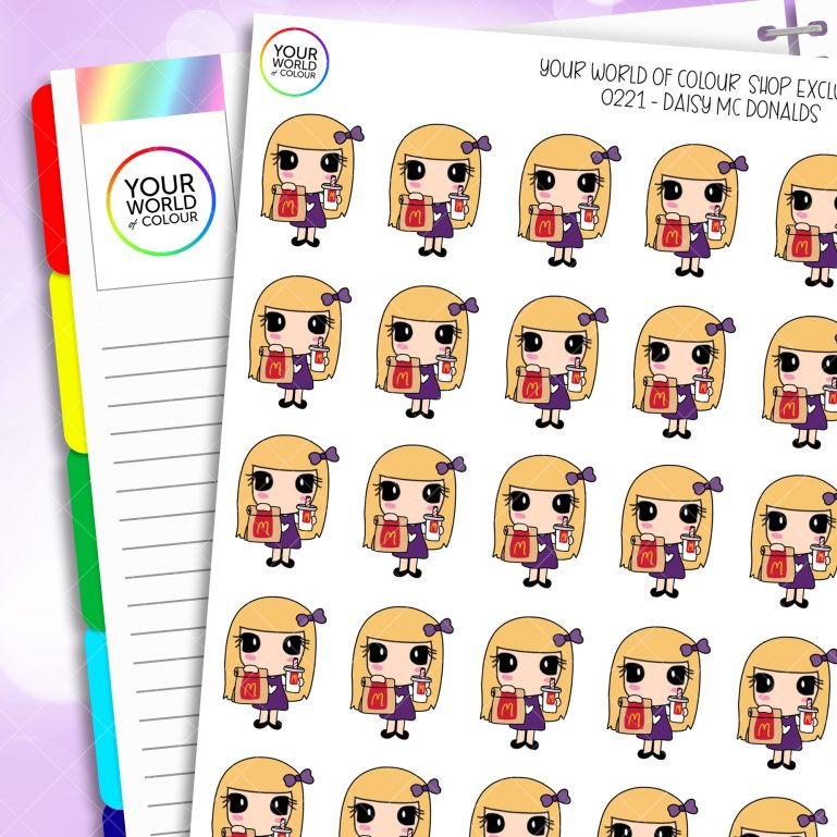 McDonald's Daisy Character Planner Stickers