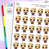 Burger Daisy Character Planner Stickers