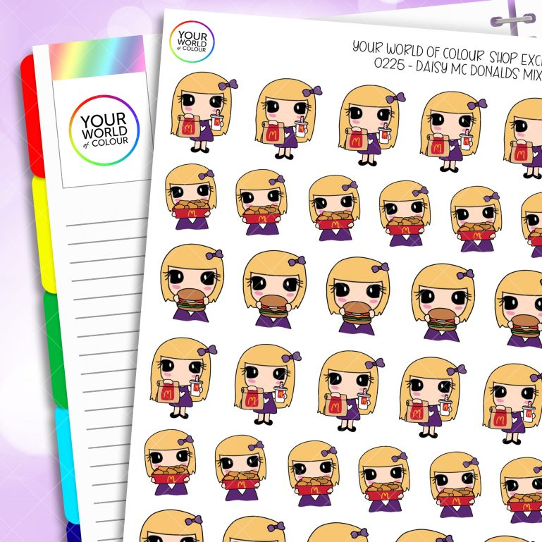 McDonald's 2.0 Daisy Character Planner Stickers