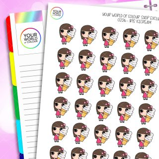 Ice Cream Iris Character Planner Stickers