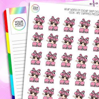 Present Iris Character Planner Stickers