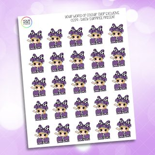 Present Daisy Character Planner Stickers