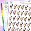 Balloon Daisy Character Planner Stickers
