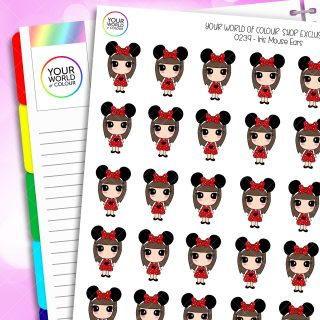 Mouse Ears Iris Character Planner Stickers