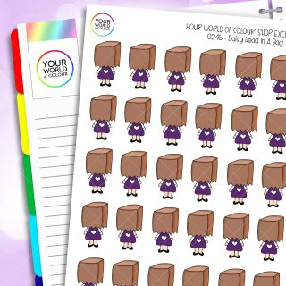 Urgh Daisy Character Planner Stickers