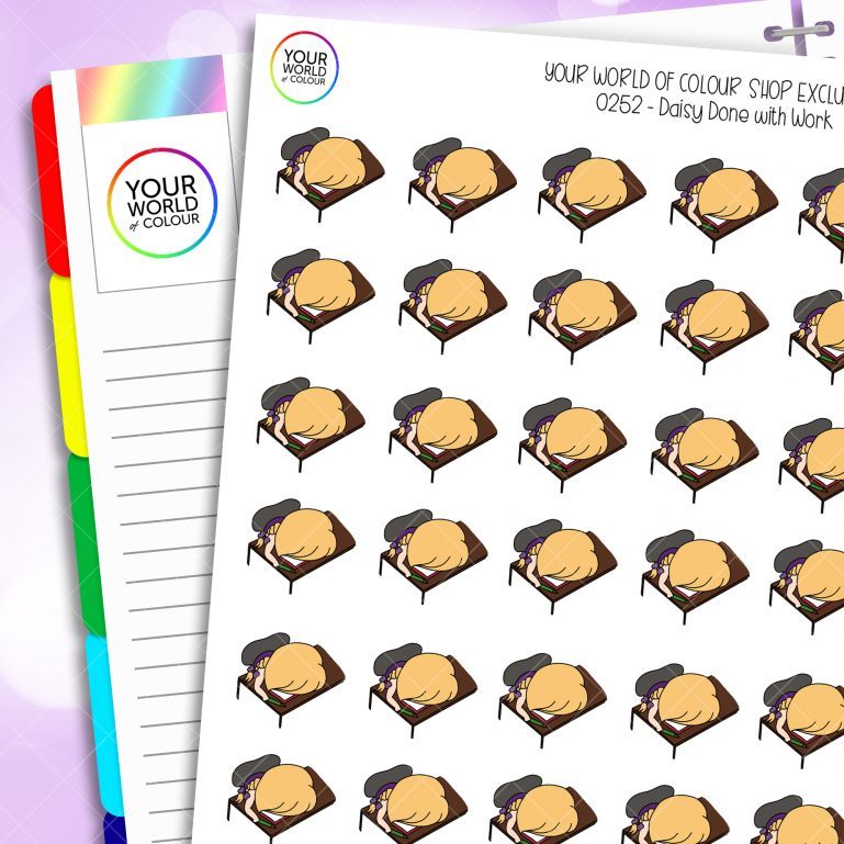 Done With Today Daisy Character Planner Stickers