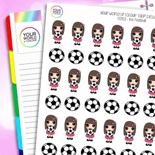 Football Iris Character Planner Stickers