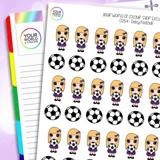 Football Daisy Character Planner Stickers