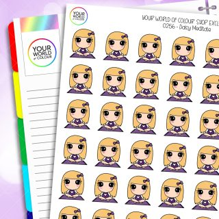Meditate Daisy Character Planner Stickers
