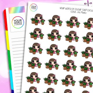 Plants Iris Character Planner Stickers