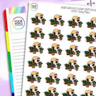 Plants Daisy Character Planner Stickers