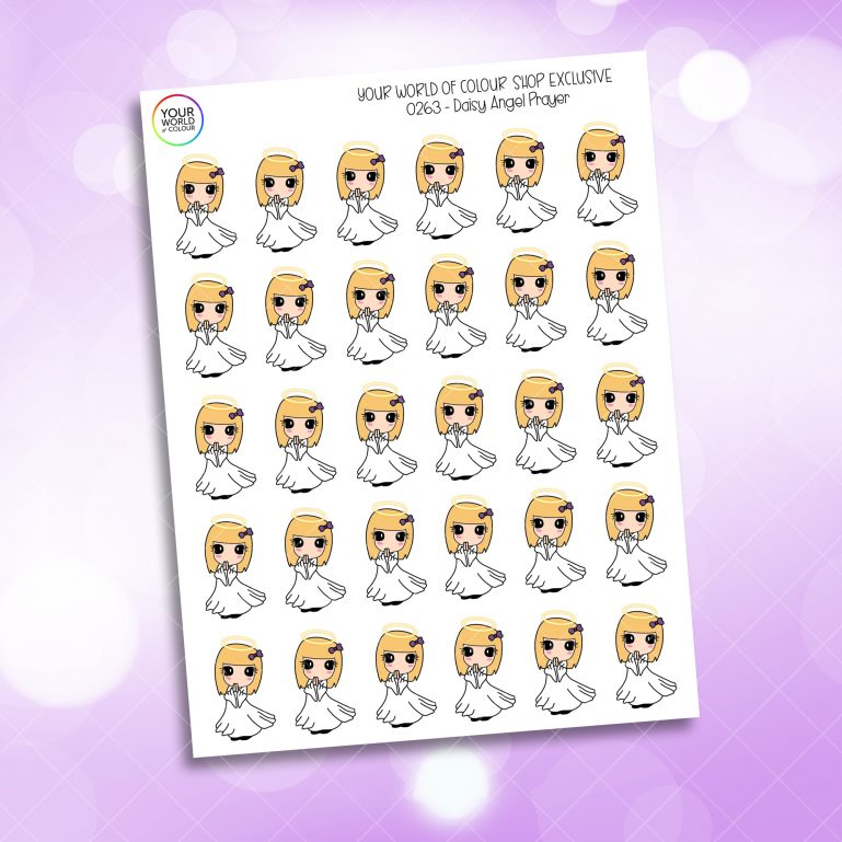 Angel Daisy Character Planner Stickers