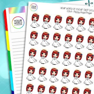 Angel Poppy Character Planner Stickers