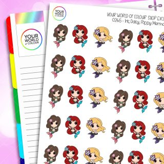 Mermaid Character Planner Stickers