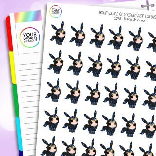 Umbreon Daisy Character Planner Stickers