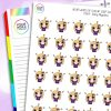 Migraine Daisy Character Planner Stickers