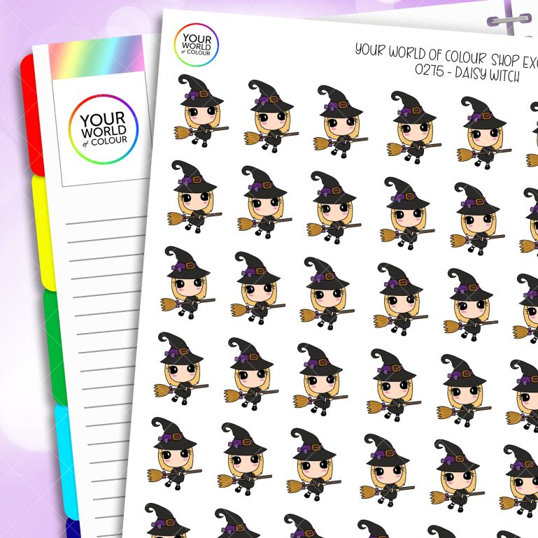 Witch Daisy Character Planner Stickers
