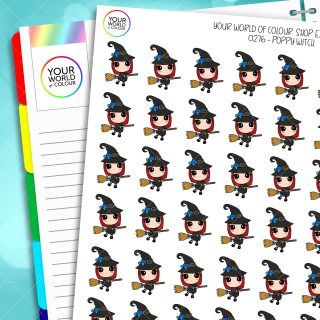 Witch Poppy Character Planner Stickers