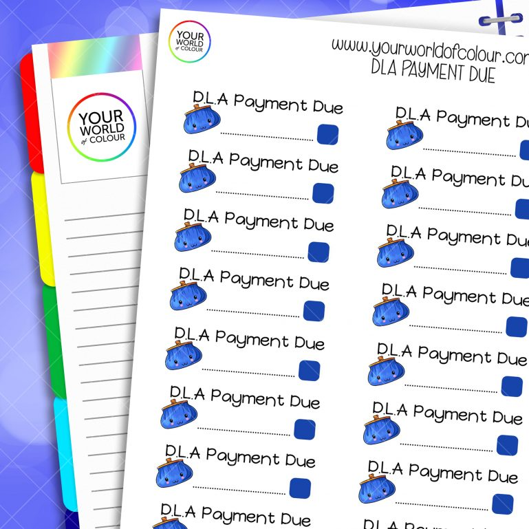 DLA Payment Planner Stickers