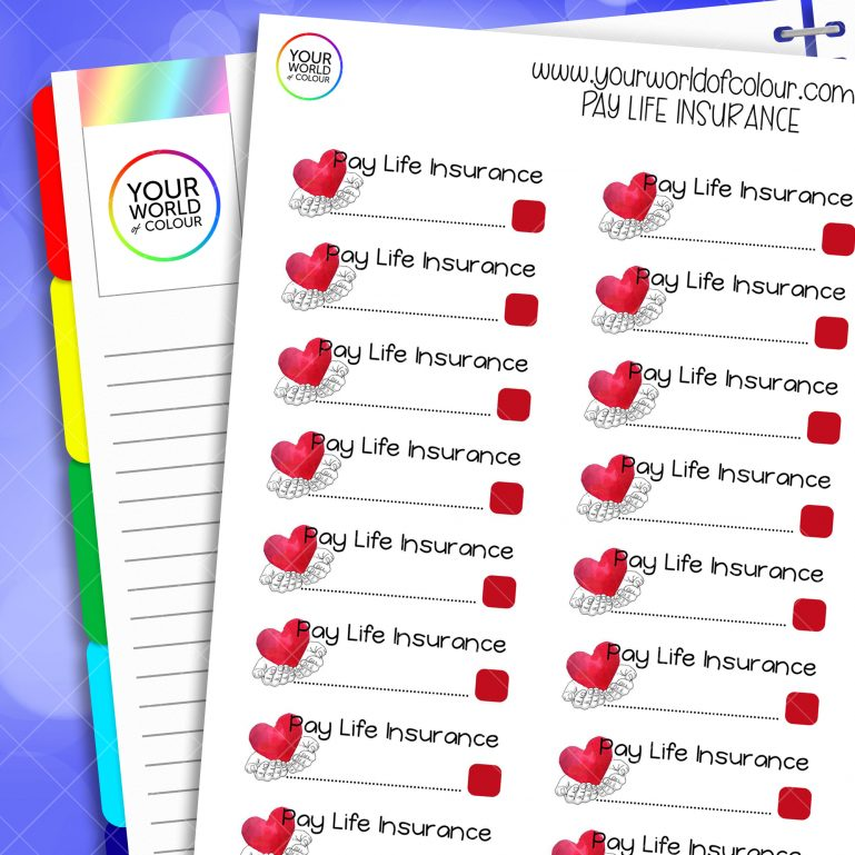 Pay Life Insurance Planner Stickers
