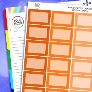 Half Box Planner Stickers - Oranges