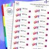 Sky Bill Due Planner Stickers
