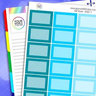 Half Box Planner Stickers - Blues 2
