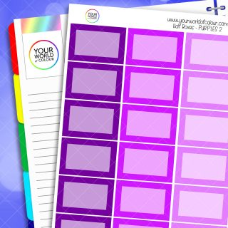 Half Box Planner Stickers - Purples 2