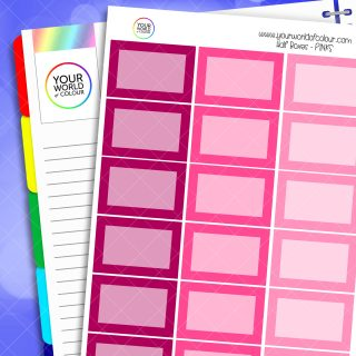 Half Box Planner Stickers - Pink