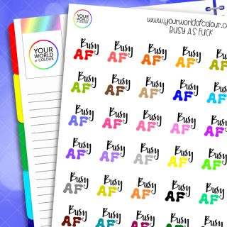 Busy AF Planner Stickers