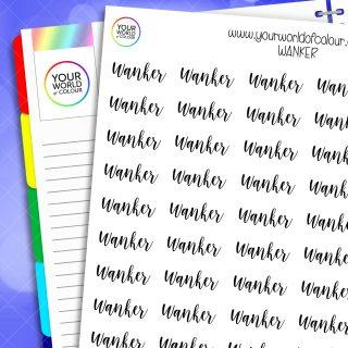 Wanker Planner Stickers