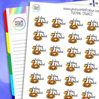 Fucking Snakes Planner Stickers