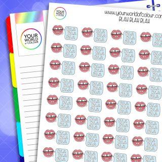Blah Blah Blah Planner Stickers
