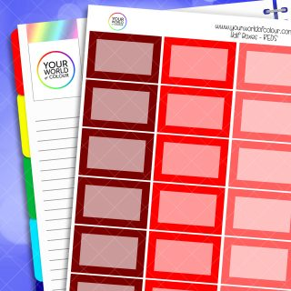 Reds Half Box Planner Stickers