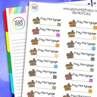 Pay Mortgage Planner Stickers