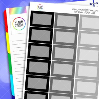 Half Box Planner Stickers