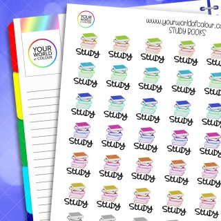 Study Books Planner Stickers