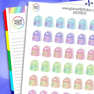 Backpacks Planner Stickers