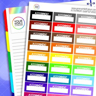 Assignment Quarter Boxes Planner Stickers