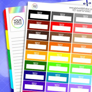 Test Quarter Boxes Planner Stickers