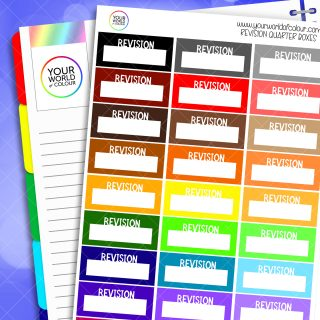 Revision Quarter Boxes Planner Stickers