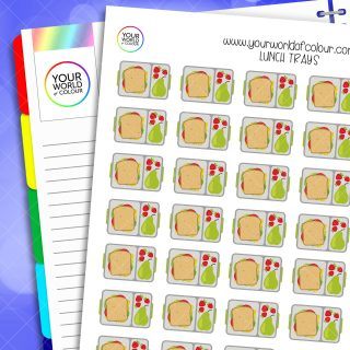 Lunch Trays Planner Stickers