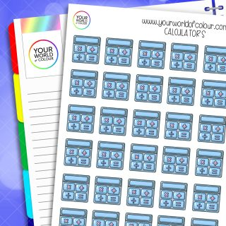 Calculator Planner Stickers