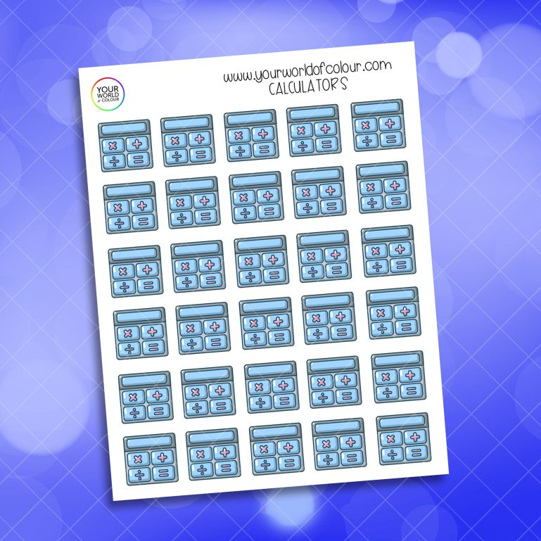 Calculator Stickers