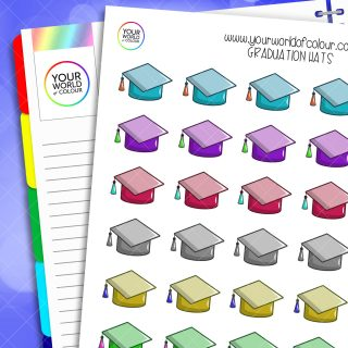 Graduation Hat Planner Stickers