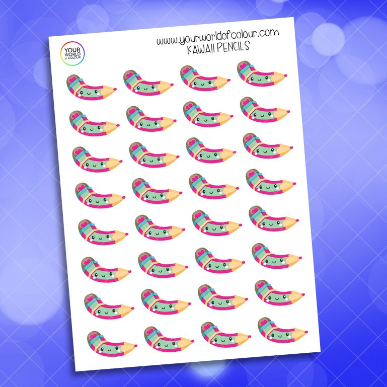 Kawaii Pencils Stickers