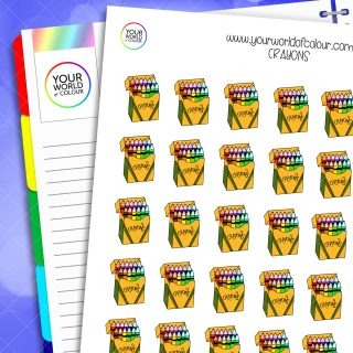 Crayons Planner Stickers